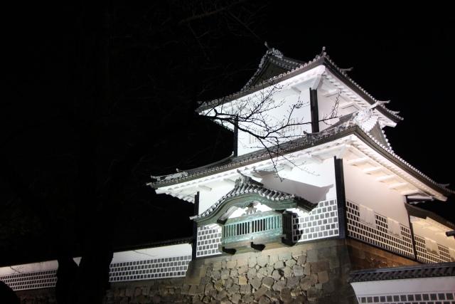 金沢城石川門ライトアップ